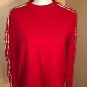 Adidas red long sleeved shirt